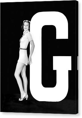 The Letter g And A Woman Canvas Print by Underwood Archives