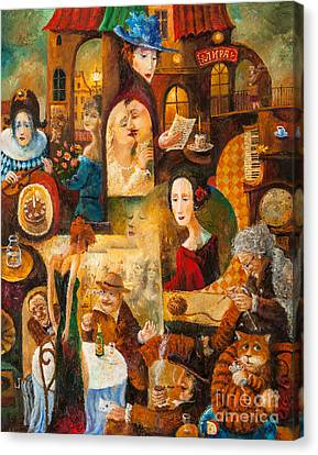Canvas Print featuring the painting The Letter by Igor Postash