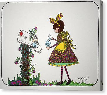 The Letter Canvas Print by Mary Kay De Jesus