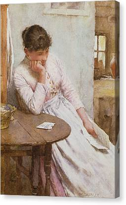 The Letter  Canvas Print by Walter Langley