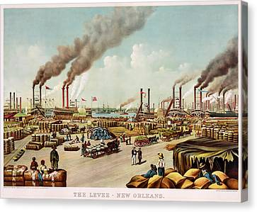 The Levee Of New Orleans Canvas Print