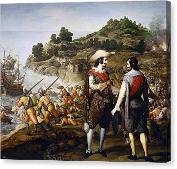 Artists Of Puerto Rico Canvas Print - The Liberation Of San Juan In Puerto Rico by Eugenio Cajes
