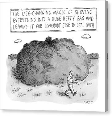 The Life-changing Magic Of Shoving Everything Canvas Print by Roz Chast