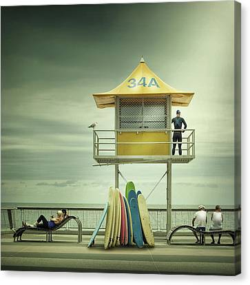 The Life Guard Canvas Print by Adrian Donoghue