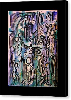 The Life Of People Canvas Print by Mimulux patricia no No