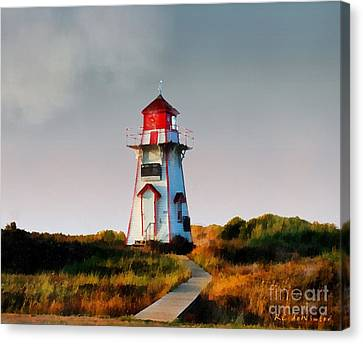The Light At Covehead Harbour Canvas Print by RC DeWinter