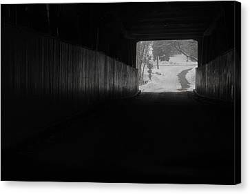 The Light At The End Of The Tunnel Canvas Print by Nick Mares