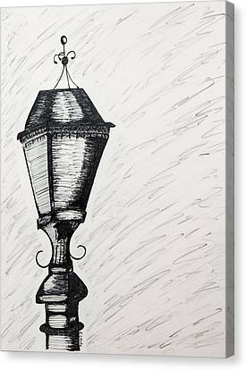 Lamp Post Canvas Print - The Light Is Out by Karin Celeste