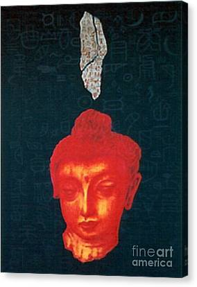 Canvas Print featuring the painting The Light Of Face_ Sold by Fei A