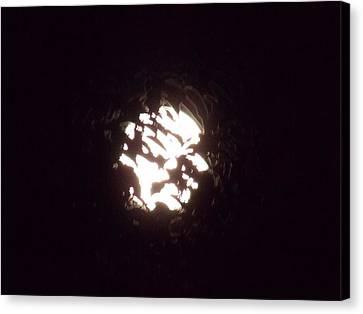 The Light Shining Through A Dark World Canvas Print