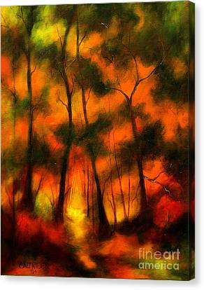 The Lighted Path Canvas Print by Alison Caltrider