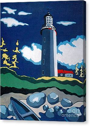 The Lighthhouse Canvas Print by Joyce Gebauer
