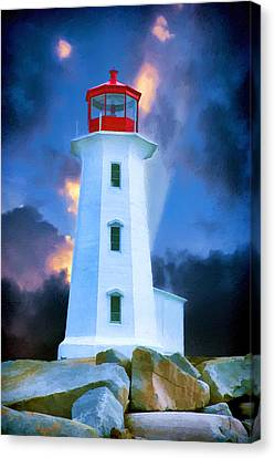 The Lighthouse At Peggys Cove Canvas Print