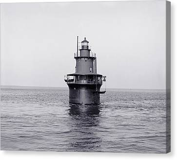 The Lighthouse Circa 1906 Canvas Print by Aged Pixel