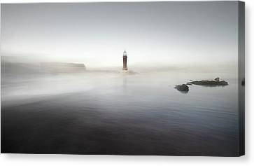The Lighthouse Of Nowhere Canvas Print by Santiago Pascual Buye