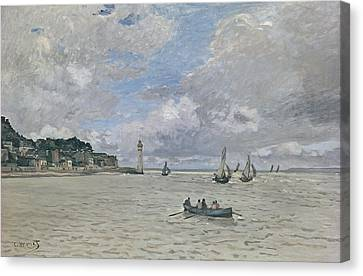 The Lighthouse Of The Hospice Honfleur, 1864  Canvas Print by Claude Monet