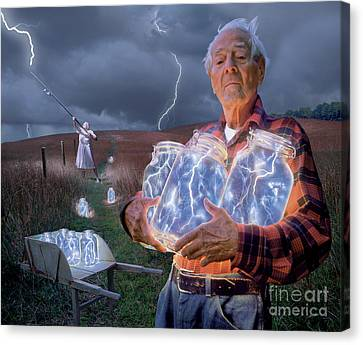 The Lightning Catchers Canvas Print by Bryan Allen