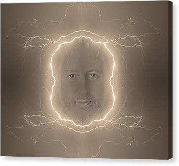 The Lightning Man Sepia Canvas Print by James BO  Insogna