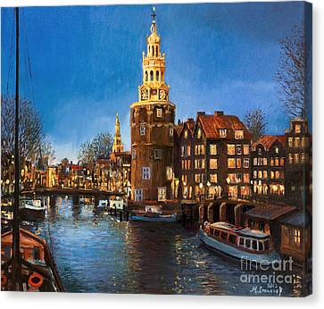 The Lights Of Amsterdam Canvas Print by Kiril Stanchev