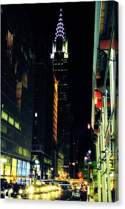 The Lights Of New York City Canvas Print