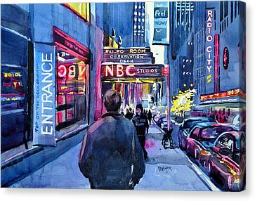 The Lights Of The City Canvas Print by Spencer Meagher