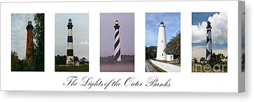 The Lights Of The Outer Banks Canvas Print by Tony Cooper