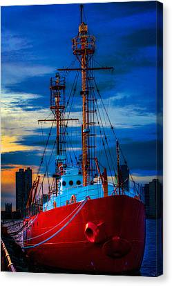 The Lightship Nantucket Canvas Print by Chris Lord