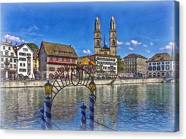 The Limmat City Canvas Print