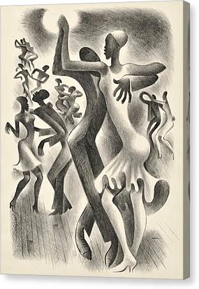 The Lindy Hop Canvas Print