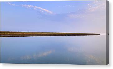 The Line Between Two Worlds Canvas Print by Guido Montanes Castillo