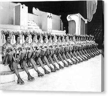 The Lineup Of Glamour-icers Canvas Print by Underwood Archives
