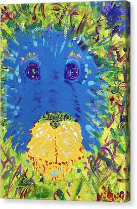 Canvas Print featuring the painting The Lion Blooms In Springtime by Yshua The Painter