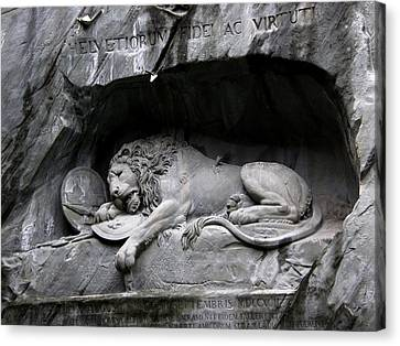 The Lion Monument IIi Canvas Print by Paul Gioacchini