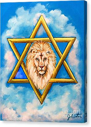 The Lion Of Judah #5 Canvas Print by Bob and Nadine Johnston