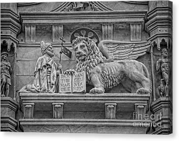 The Lion Of Saint Mark Canvas Print by Lee Dos Santos