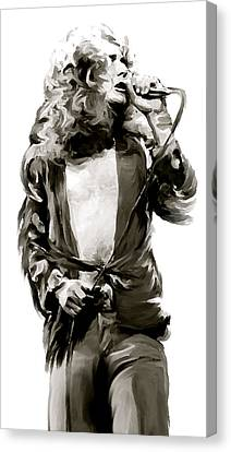 Led Zeppelin Artwork Canvas Print - The Lion  Robert Plant by Iconic Images Art Gallery David Pucciarelli