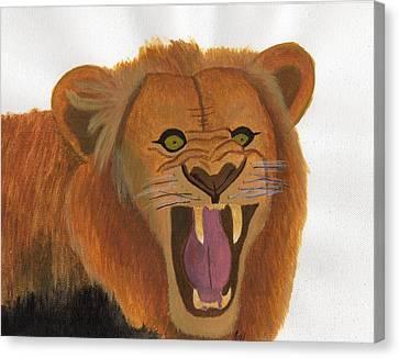 The Lion's Roar Canvas Print by Bav Patel