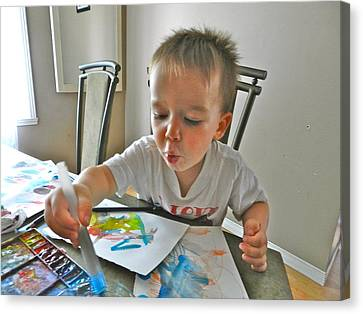 The Little Artist Canvas Print by Ion vincent DAnu
