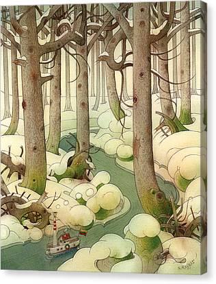 The Little Boat 01 Canvas Print by Kestutis Kasparavicius