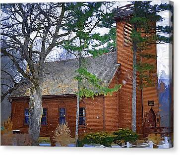 The Little Brown Church In The Vale Canvas Print by Kirt Tisdale