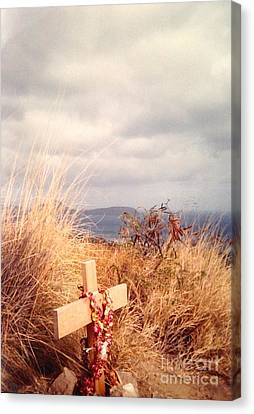 Canvas Print featuring the photograph The Little Cross by Carla Carson