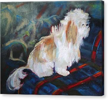 The Little Dog Prince Canvas Print by Carol Jo Smidt
