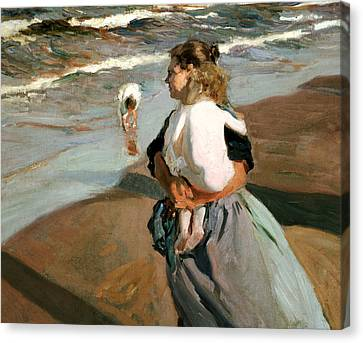 The Little Granddaughter Canvas Print by Joaquin Sorolla y Bastida