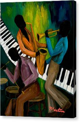 The Little Jazz Trio II Canvas Print by Larry Martin