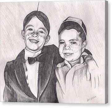 The Little Rascals Canvas Print by Beverly Marshall