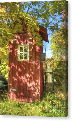 The Little Red House Canvas Print by Veikko Suikkanen