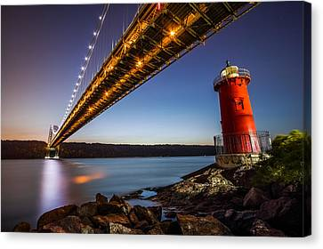 The Little Red Lighthouse Canvas Print by Mihai Andritoiu