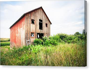 The Little Red Shack On Tucker Road - Old Barns And Things Canvas Print by Gary Heller