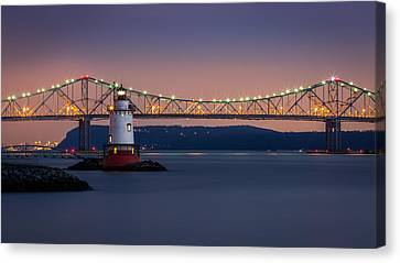 The Little White Lighthouse Canvas Print by Mihai Andritoiu