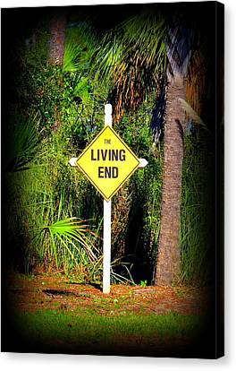 The Living End Canvas Print by Carla Parris